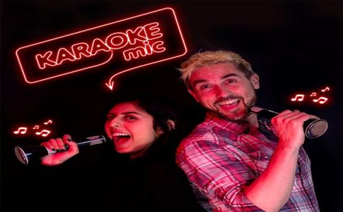 Караоке Микрофон за Телефон с Тонколона