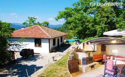 Наем на Самостоятелна Къща за до 8 Човека с Барбекю и Механа с Камина. Къща за Гости Под Орехите до Трявна Ви Очаква