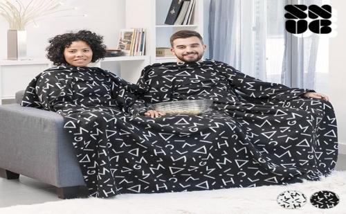 Двойно Одеяло с Ръкави Symbols Snug Snug Big Twin