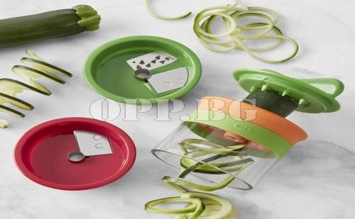 Резачка за Зеленчукови Спагети и Декорация с 3 Приставки