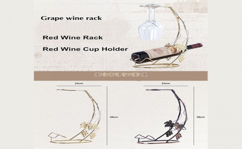 Дизайнерска Поставка за Вино и Чаши Creative Gift Wine Rack