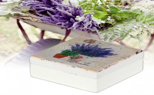 Винтидж Кутийка за Бижута с Огледало Средна