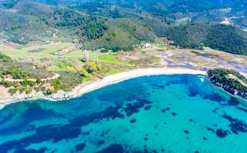 Лято Край Торони, Гърция на 150М. от Плажа! Нощувка със Закуска и Вечеря + Басейн от Хотел Azapiko Blue Sea