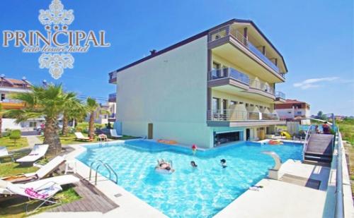 На Море през Цялото Лято в <em>Паралия Катерини</em>, Гърция! Нощувка със Закуска в Тройна Стая + Басейн в Хотел Principal