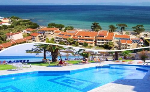 Късно Лято на Самия Плаж Скала-Рахониу, о. <em>Тасос</em>! Нощувка със Закуска и Вечеря + Частен Плаж и Басейн от Хотел Rachoni Bay Resort***