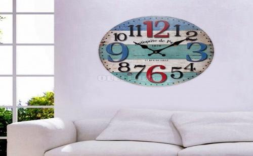 Стенен Часовник в Морски Цветове