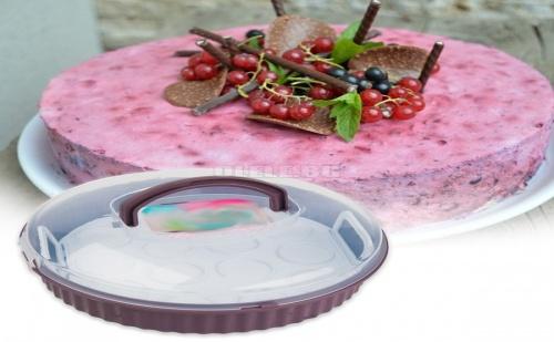 Кутия за Торта с Приставка за Кексчета Qlux
