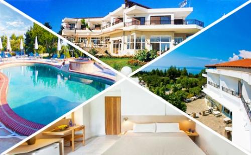 Септември в <em>Халкидики</em>, Гърция! Нощувка със Закуска и Вечеря + Басейн в Хотел Pashos***, Криопиги