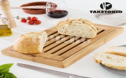 Дъска от Бамбук за Рязане на Хляб