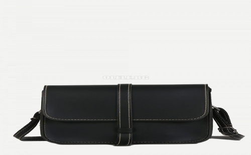 Дамска чанта Contrast Stitch Trim Shoulder Bag