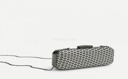 Дамска чанта на точки Polka Dot Clutch Chain Bag