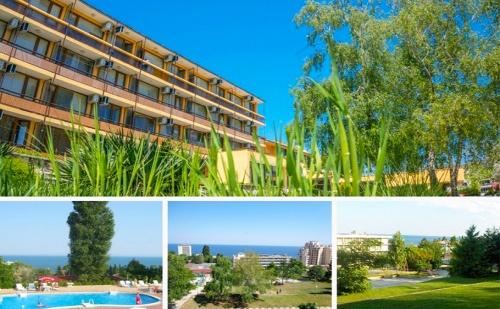 Лято на 10Мин. от Плаж Кабакум. All Inclusive Light + Басейн в Хотел Темида, К.к <em>Чайка</em>, Златни Пясъци