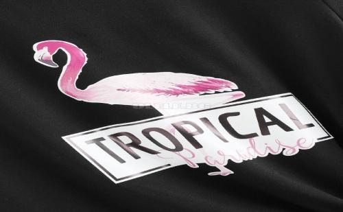 Дамска тениска Flamingo And Letter Print Tee