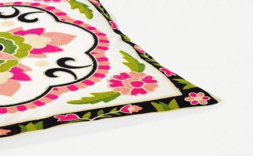 Бродирана Калъфка за Възглавница Flower and Embroidery Pillowcase Cover