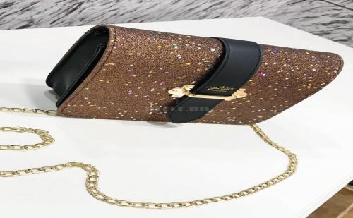 Блестяща звездна чанта Buckle Decor Glitter Chain Bag