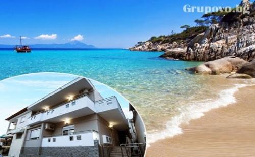 Септември на 20М. от Плажа в Лименария, о.<em>Тасос</em>. Нощувка в Апартамент от Green View Apartaments, Гърция!