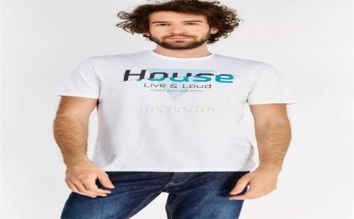 Мъжка тениска White Slogan T-Shirt