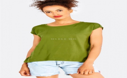 Дамска тениска Green Cotton T-Shirt