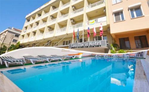 Турция - 05.10 - 13.10 в <em>Мармарис</em> на 100м. от плажа! Tранспорт, 7 нощувки на база All inclusive + басейн и частен плаж от хотел Sun Maris City