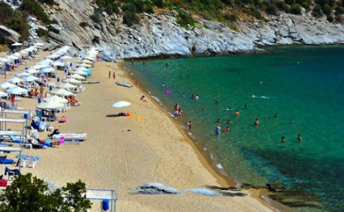 Ранни резервации: 6 нощувки, Ultra All Inclusive в хотел Bomo Club Tosca Beach 4*, <em>Кавала</em>, Гърция през Май!