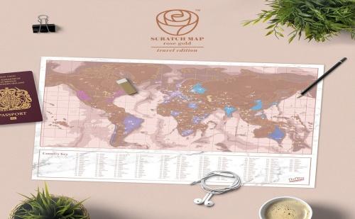 Мини Скреч Карта - Розов Свят
