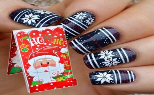 Комплект 4 Броя Коледни Пили за Нокти
