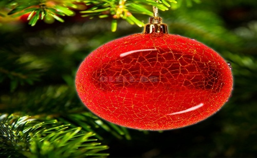Комплект 6 бр Коледни Топки Червен Гланц