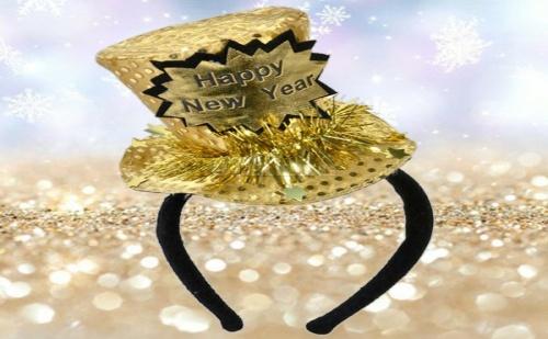 Новогодишна Парти Диадема със Златна Шапчица