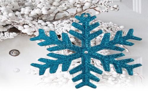 Брокатена Коледна Снежинка за Елха Тюркоаз