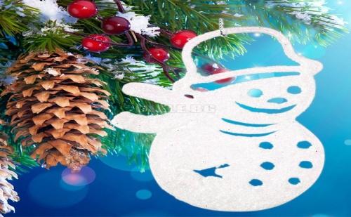 Брокатен Снежен Човек за Коледна Елха