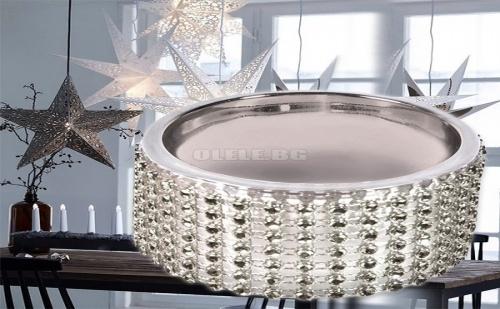 Коледно Сребърно Бижу Основа за Чаена Свещичка