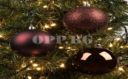 Комплект от 12 Броя Коледни Топки в Антични Цветове
