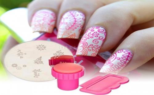 Сет за Маникюр Мини Печат Nail Stamp Set