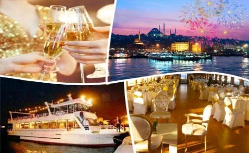 Новогодишна Гала Вечеря с Неограничена Консумация на Напитки, Жива Музика и Dj на Яхта по Босфора!