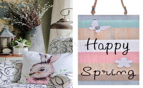 Декоративна Дървена Табела Happy Spring