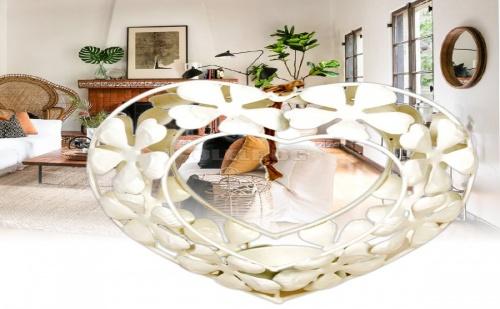 Декоративен Закачащ се Свещник за Чаена Свещ Сърце