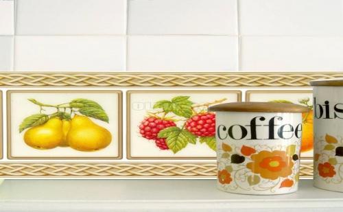 Комплект от 2 Броя Декоративни Стикери за Плочки за Кухня Плодове