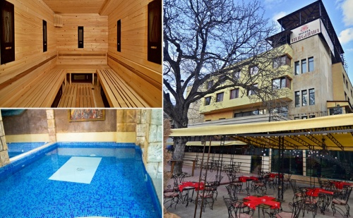 Спа Почивка с Минерална Вода във Велинград! Нощувка, Закуска и Вечеря + Басейн, Джакузи, Сауни и Парна Баня в Хотел България!