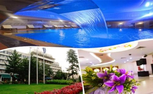 Нощувка на човек със Закуска и Вечеря + Басейн и Спа с Минерална Вода в Гранд Хотел Казанлък***