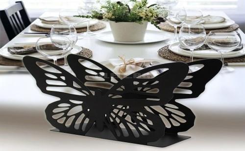 Красив Метален Салфетник Пеперуда