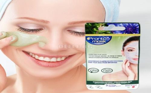 Пoчистваща Маска за Лице с Глина и Екстракти от Метличина и Мащерка Pronto Mask