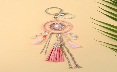 Розов аксесоар за дамска чанта Tassel Detail Dreamcatcher Bag Accessory