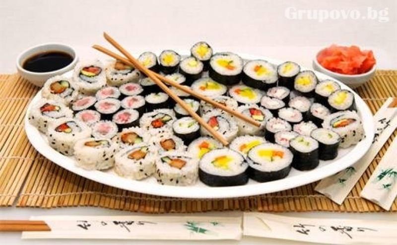 Фиш сет с 48 хапки (980 грама) само за 28 лв. от Sushi House