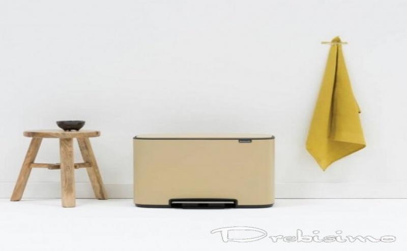 36 л. кош за отпадъци в цвят минерално сахара Brabantia серия Bo Pedal
