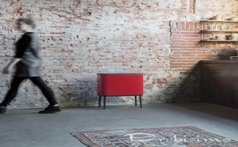 3 х 11 л. страстно червен кош Brabantia серия Bo Touch