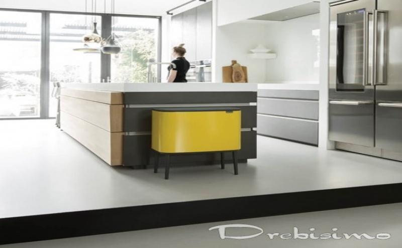 3 х 11 л. кош в маргаритково жълт цвят Brabantia серия Bo Touch