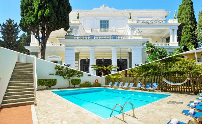 Нощувка на човек със закуска + басейн в хотел Popi Star, на 200 м. от плажа Гувия, Корфу