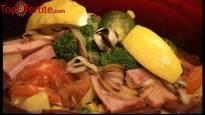 Голям кръчмарски сач със свинско и пилешко месо, суджук и зеленчуци + Безплатна доставка от Кулинарна работилница Деличи